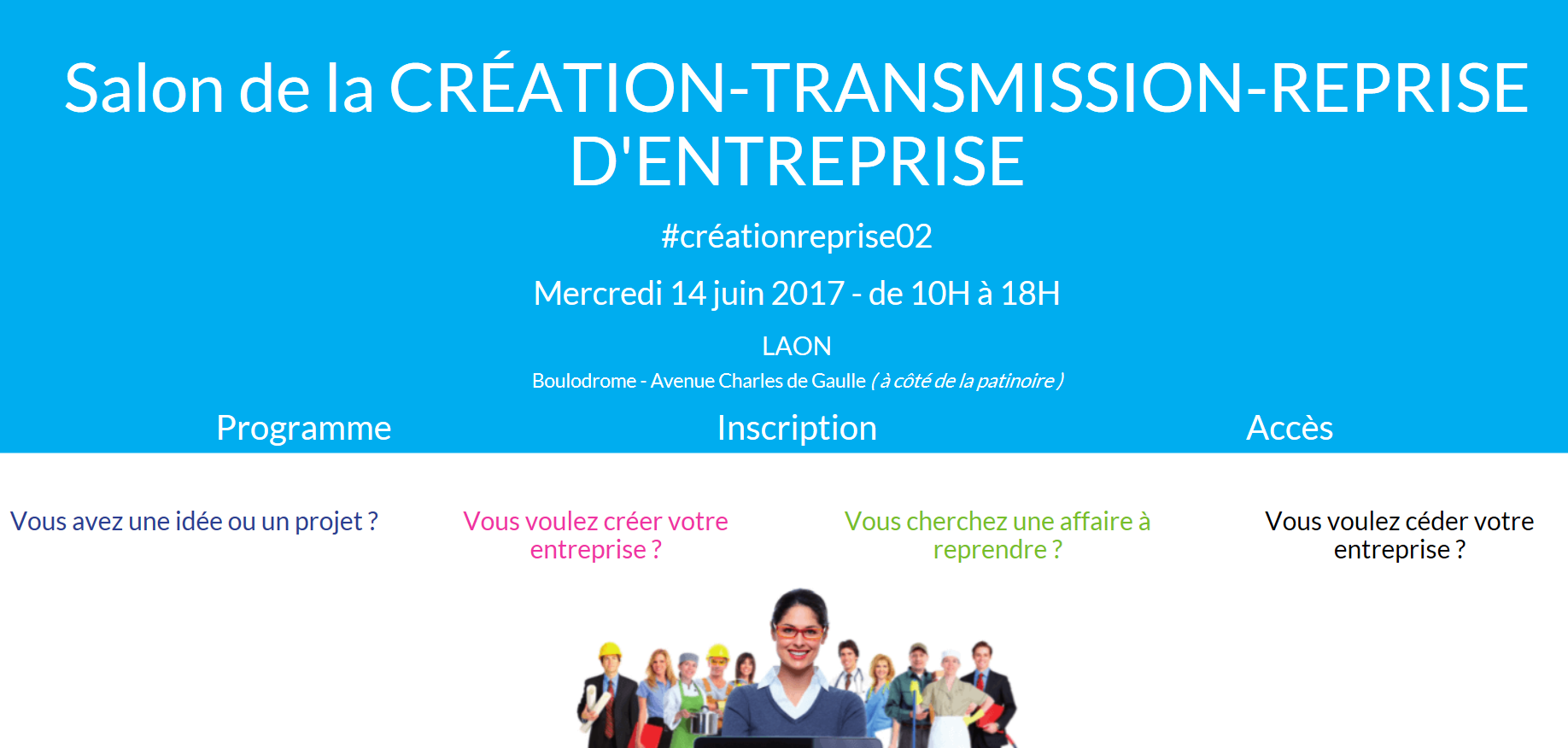 Salon de la cr ation reprise d 39 entreprise grandsoissons for Salon creation entreprise